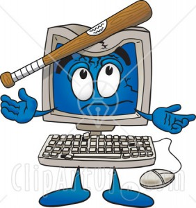 12901-clipart-picture-of-a-desktop-computer-mascot-cartoon-character-with-a-baseball-bat-crashing-its-screen