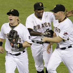 The M-Boys: McLouth, Morgan, and Moss Celebrate the Win